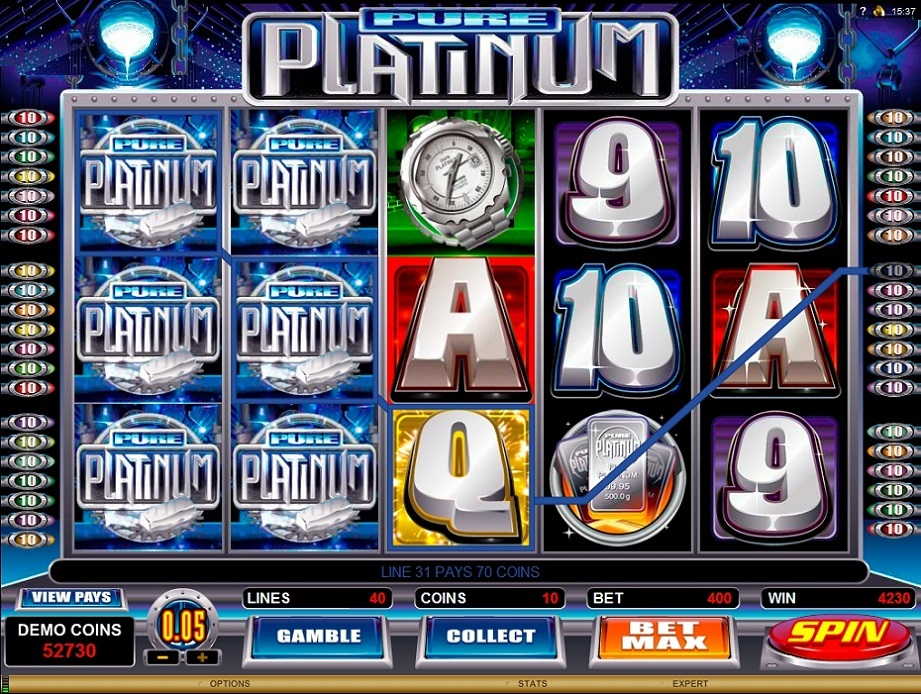 pure platinum game slots